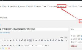 WordPress将某个文章设置为游客需要登录才可以访问