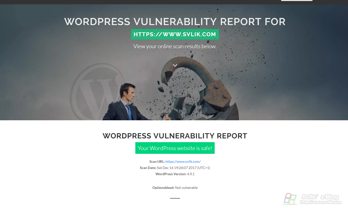 WordPress博客安全检验以及增加安全性。